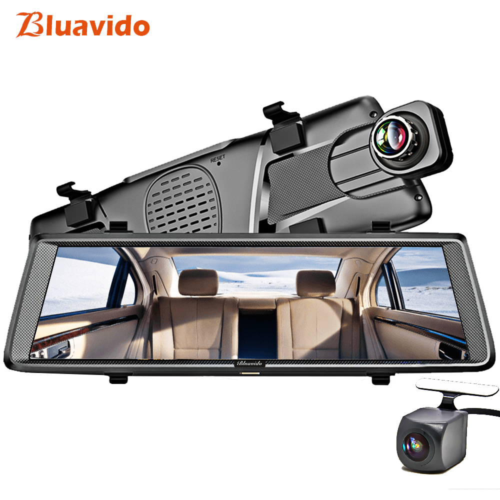 Bluavido 10 4G dashcam Android Зеркало видеорегистратор gps навигации ADAS Full HD 1080p Автомобильный видеорегистратор с камера заднего вида Bluetooth