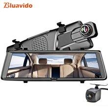 Bluavido 10″ 4G dashcam Android mirror dvr GPS navigation ADAS Full HD 1080P car video recorder with rear view camera Bluetooth