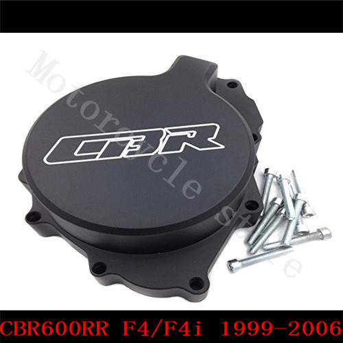 Fit for Honda CBR600RR CBR600 F4 F4i 1999 2000 2001 2002 2003 2004 2005 2006 Motorcycle Engine Stator Cover Black Left side руководящий насос range rover land rover 4 0 4 6 1999 2002 p38 oem qvb000050