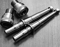 Titanium TC4 Bicycle Pedal Spindles Quick Release Version Axles With Buckles 104 2g Set For Bike