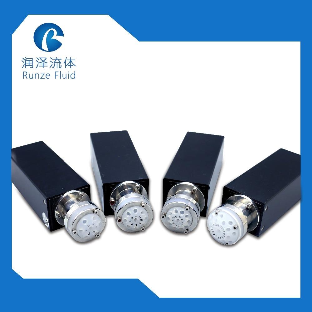 Válvula selectora multipuerto de resistencia química de alta estabilidad para analizador de agua