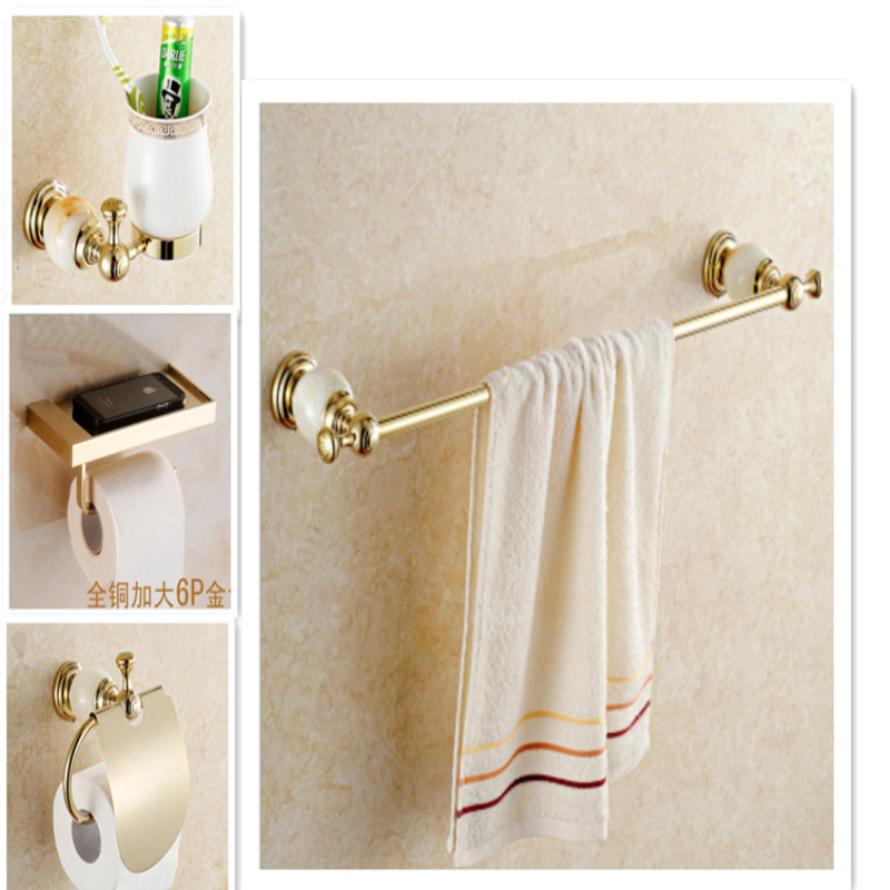 bathroom hardware accessories kit with jade towel bar shelf towel holdercup holder