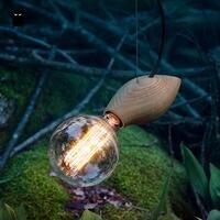 Natural Oak Wood Pendant Light Fixture Modern Nordic Simple Creative Japanese Korean Rustic Hanging Lamp Luminaria