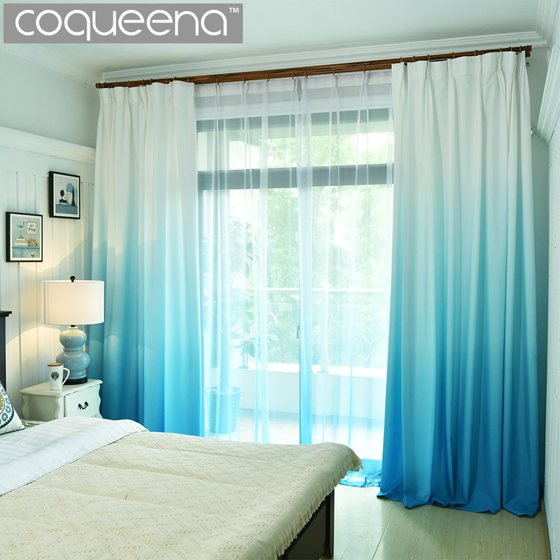 US $5.0 50% OFF|Window Curtains for Living Room Bedroom Kitchen Home Decor  Modern Blackout 3D Curtain Panel Gradient Colors Custom Size-in Curtains ...