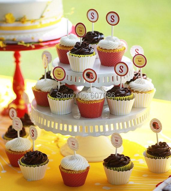 1 Tier 8 Inch 10 White Ceramic Wedding Cupcake Stand Display