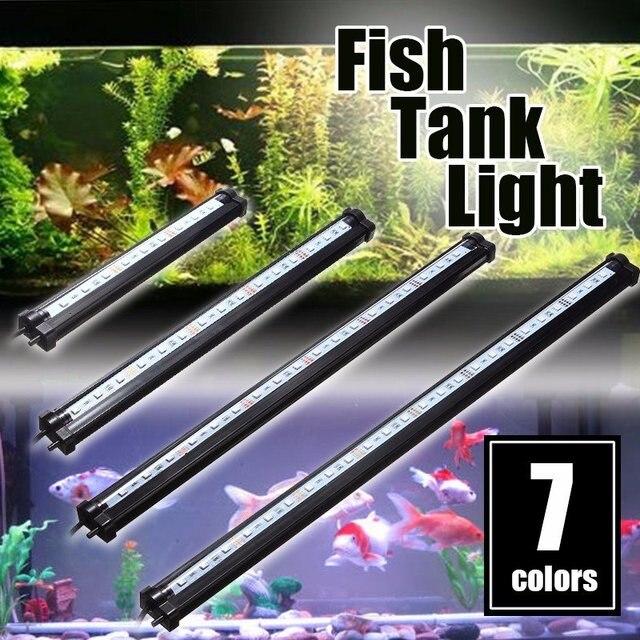 Waterproof LED Light Bulb Tube 25/35/45/55cm 5050SMD Aquarium Fish Tank Lamp Bar Light Lighting RGB Remote Control 220V