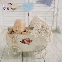 Новорожденный ребенок Фотография железные коляски реквизит Младенческая bebe fotografia аксессуары для маленьких девочек и мальчиков фотосессия
