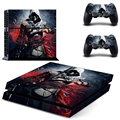 HOT Ps4 Accessories ASSASSINS CREED ROGUE PS4 Colorskin Sticker Black For Sony Playstation 4 For PS4 Console Cover 2 Controllers