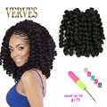 Wand Curl Crochet hair extensions 20 roots/piece Ombre Havana mambo twist braiding hair Synthetic Crochet Braids hair extensions