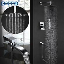 GAPPO Shower Faucet  mixer tap rainfall Bath tub taps waterfall bath tap mixer hand showers wall mount rain shower set GA7107