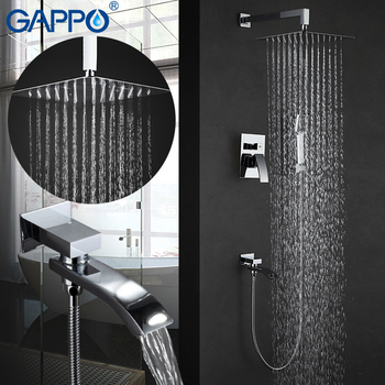 GAPPO Shower Faucet  mixer tap rainfall Bath tub taps waterfall bath tap mixer hand showers wall mount rain shower set GA7107 цена 2017
