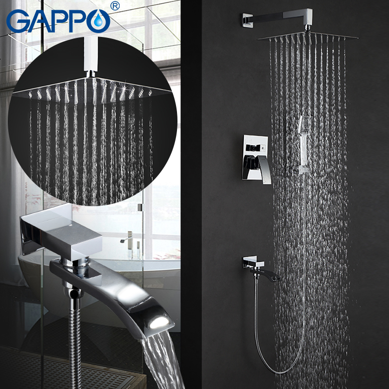 GAPPO Shower Faucet shower mixer tap rainfall Bath tub taps waterfall bath tap mixer hand showers wall mount rain shower set диск x& 039 trike x 125 6 5xr16 4x108 мм et45 hsb fp page 7
