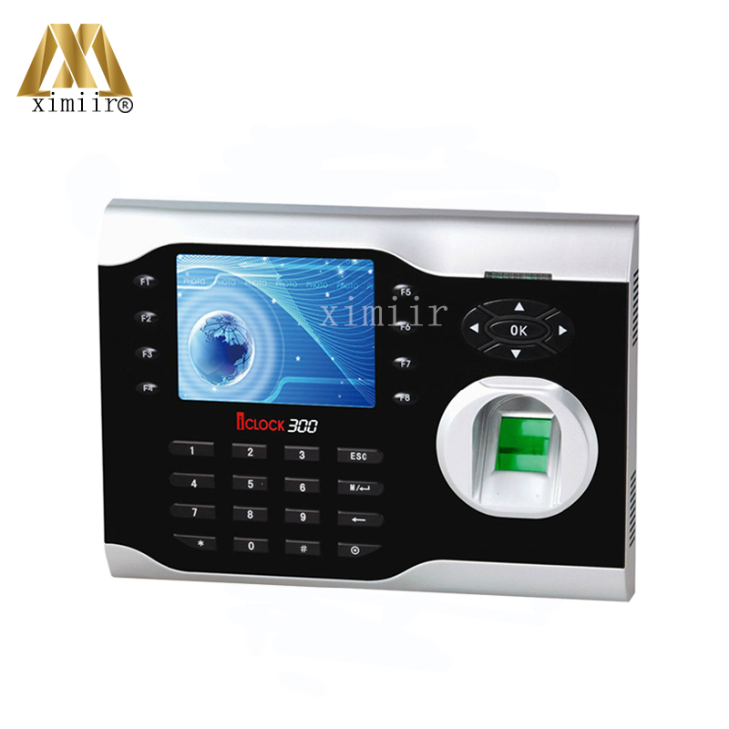 Hight Quality ZK Iclock300 Fingerprint Time Attendance Machine TCP/IP Comunication Optical Sensor 3.5 TFT Screen