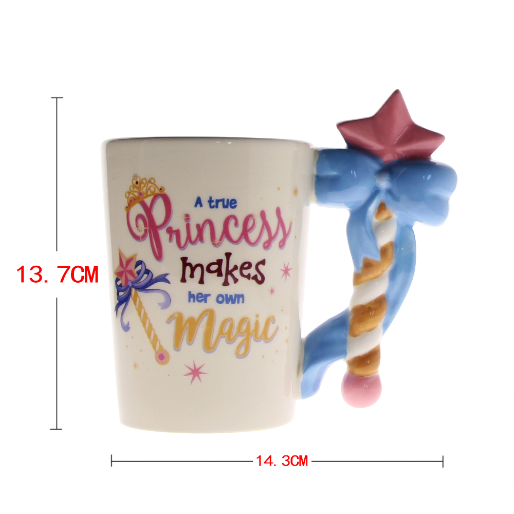 Us 12 99 1piece A True Princess Magic Fairy Mug Wand Handle Ceramic Coffee Tea Cup For S Birthday Gift In Mugs From Home