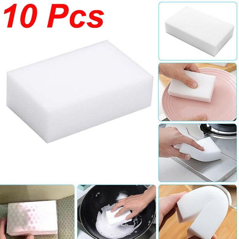 Vhome 10pcs Magic Sponge Eraser Kitchen Duster Clean Accessory/Microfiber Dish Cleaning Melamine Sponge Nano Wholesale 10*6*2cm