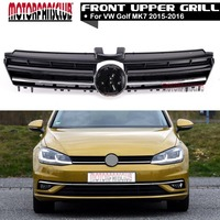 ABS Glossy Black Front Grille For VW Golf MK7 2013 2014 2015 2016 R Line Style