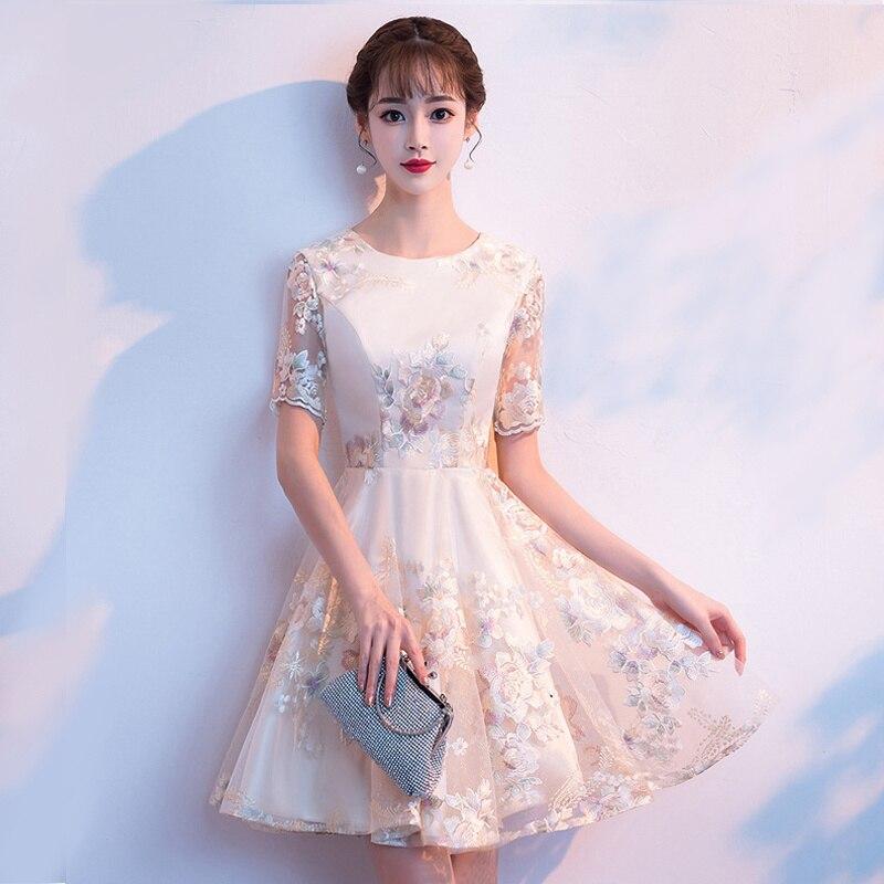 Nouvelle Robe de soirée de mariage mode femmes chinoises élégant Qipao Sexy Mini Robe rétro Oriental Cheongsam Vestido S-XXL