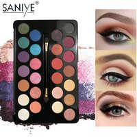 SANIYE  26 colors Ins Hot Sale Pearl Eye Shadow Palette Easy Drawing Makeup Profusion Eyeshadow Makeup E263