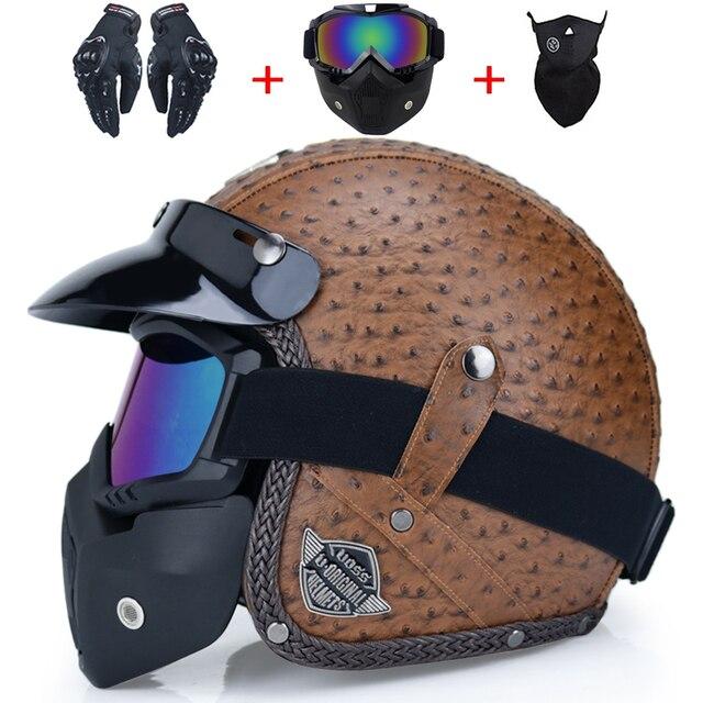 Retro Motorcycle Helmet 3