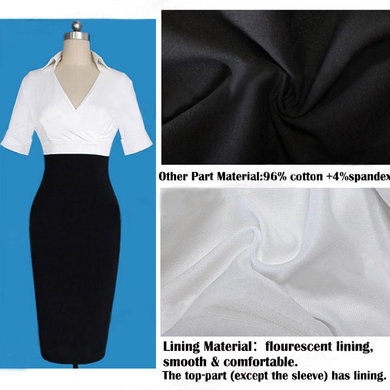 2015 новых женщин весной платье карандаша знаменитости бизнес свободного покроя работа ну вечеринку платье туника с V шеи воротник платья