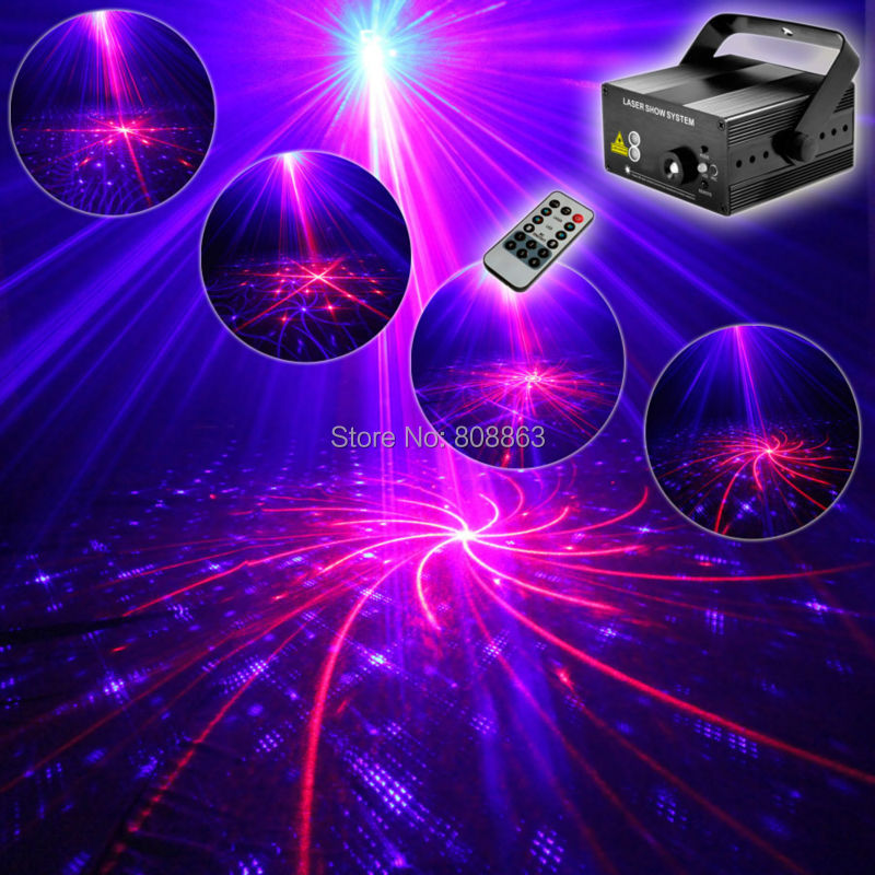 3 Lens R&B Laser 48 Patterns Projector Blue LED Club Party Bar DJ Dance Disco Xmas Home Party Professional Stage Light show T96 laser stage lighting 48 patterns rg club light red green blue led dj home party professional projector disco dance floor lamp
