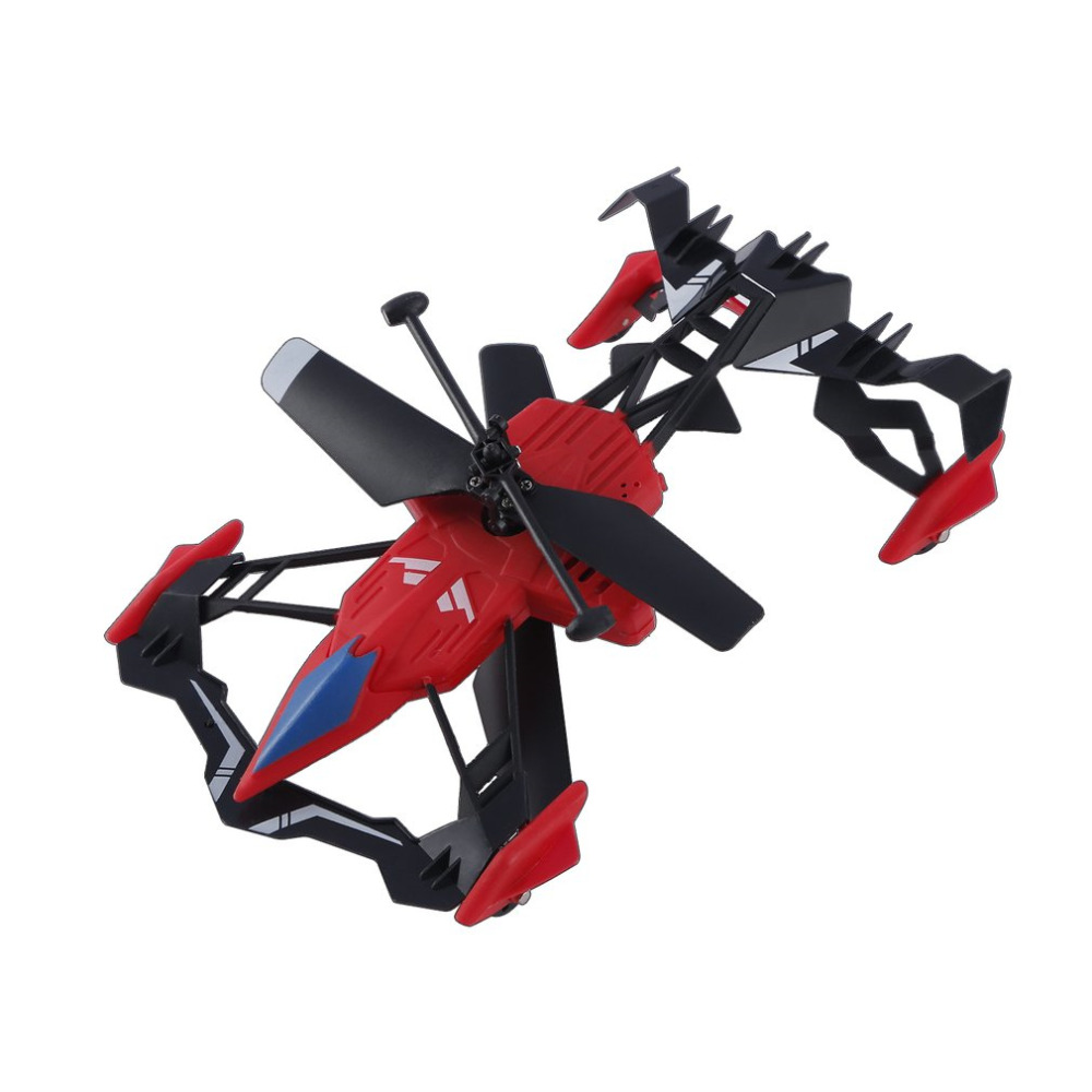 Hot ! YKS Remote Control 2 in 1 Air-Ground Flying Car RC Drone Quadcopter 3D Flip Quadcopter Car Toys For Children Birthday Gift