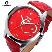CASIMA Fashion Womens Quartz Watches Calendar Leather Strap Dress Ladies Girl Clock Crystal Women Wrist Watch 2017 montre femme