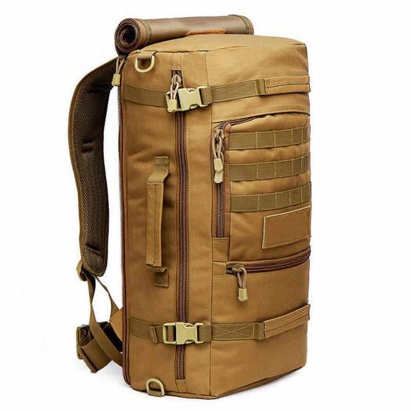 Popular 60 l bolso de camuflaje masculino mochila multifuncional de alta calidad de moda de ocio laptop aircraft mejor mochila hombres