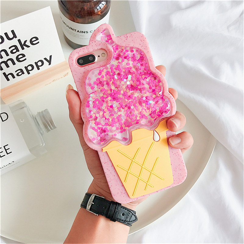 Liquid Glitter Stars Soft Silicone Case For iphone X (1)