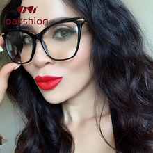oakshion Fashion Transparent Glasses Optical Frames For Women Cat Eye Frame Men Eyeglasses Eyewear Oculos