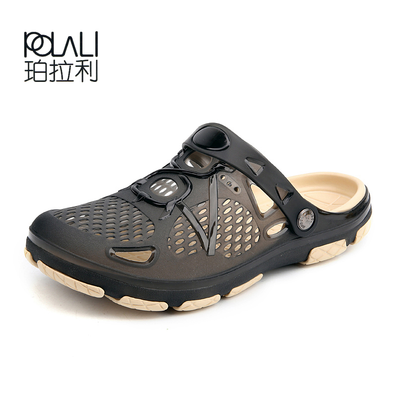 POLALI Men's Aqua Shoes 2018 New Breathable Men Beach Sneaker Shoes Beach Fishing Water Holes Outdoor Summer Sandals