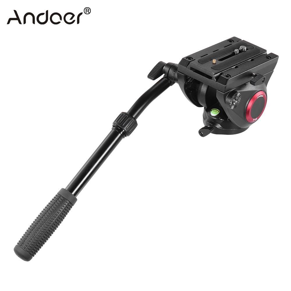 Andoer TP 65 Aluminum Alloy Fluid Drag Head Photography Hydraulic Head Three dimensional Tripod Head 360