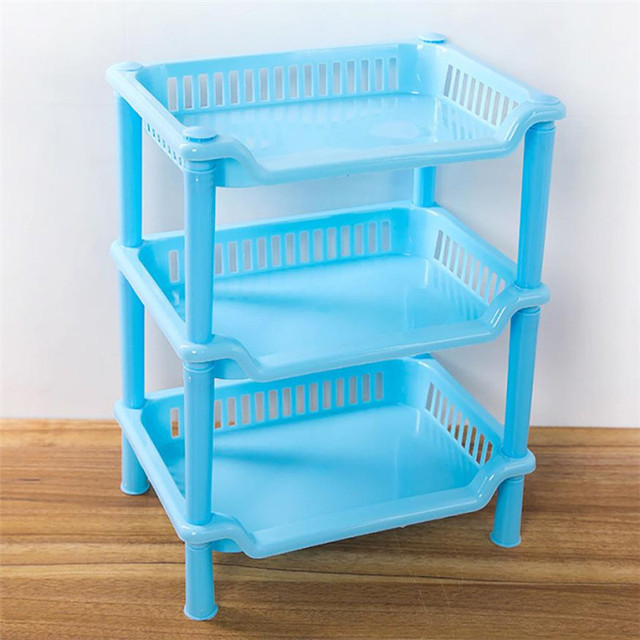 3 Tier Plastic Corner Organizer Shelf holder Rack DIY Bathroom Caddy ...