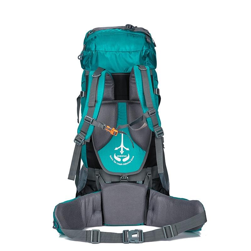 80L Camping mochilas senderismo grande al aire libre mochila bolsa de Nylon superligero deporte bolsa de viaje de aleación de aluminio de soporte 1,65 kg - 3
