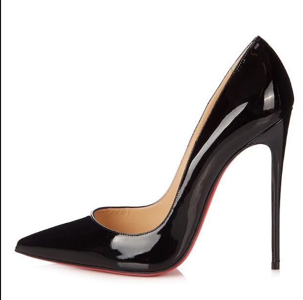 Brand red black nude women new style patent leather pumps high-heeled pointed toe shoes party shoes ladies stiletto 34-42 boxBrand red black nude women new style patent leather pumps high-heeled pointed toe shoes party shoes ladies stiletto 34-42 box