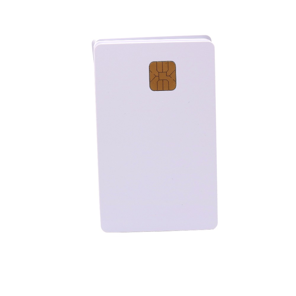 200pcs White PVC FM4428 ISO7816 Contact  IC Card  Smart Card For Social Security