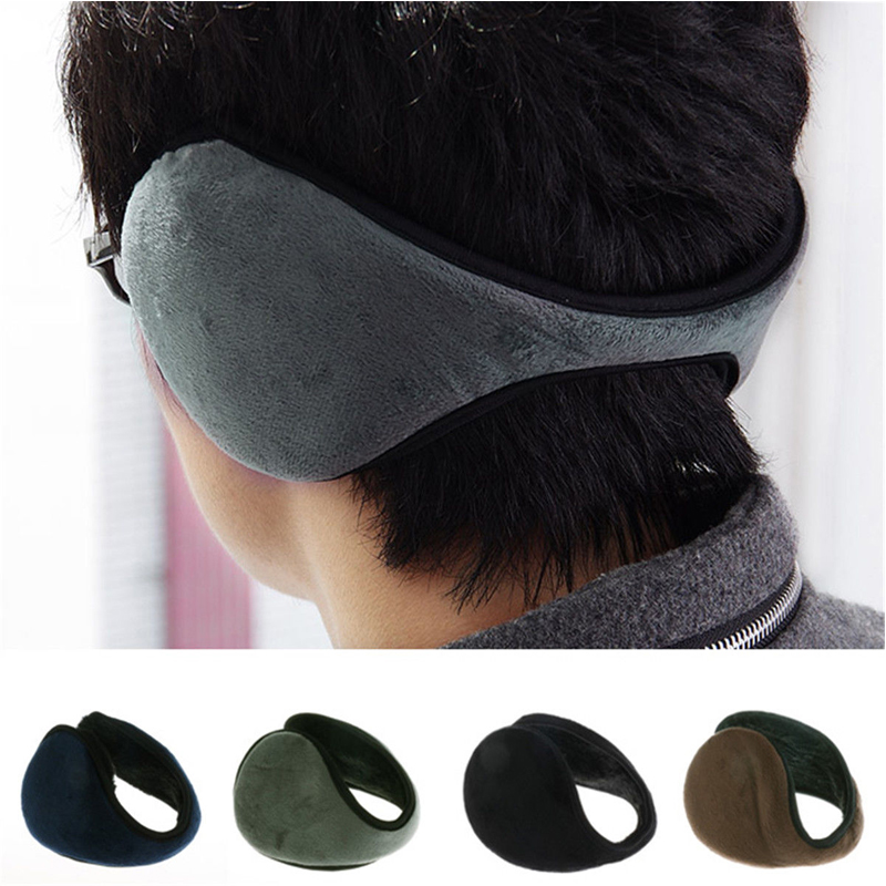 KLV  Winter Casual Warm Ear Muffs Ear Flaps Men Women Girls Flannel Fur Earmuffs Ear Warmer Cover Wrap Band Orejeras Mujer