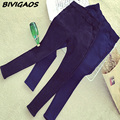 2016 New Fall Winter Womens Plus Size Thick Fleece Jeans Elastic Denim Leggings Warm Jeggings Slanting Pocket Pencil Pants Women