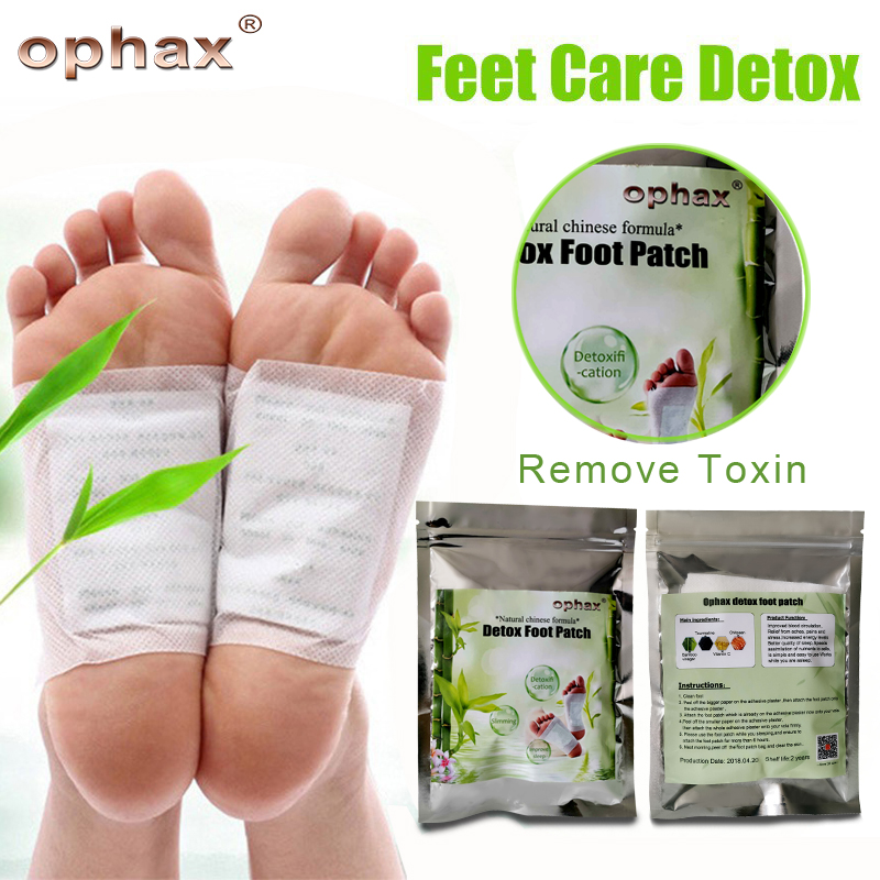 OPHAX Body Remove Toxins Feet Slimming Patch Chinese Medicine Improve Sleep Detox Foot Patch (5Pairs Patches+10pcs Adhesives) meiyanqiong 20pcs lot detox foot patches pads nourishing repair foot patch improve sleep quality slimming patch loss weight care