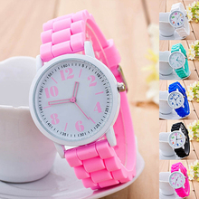 Kids Girls' Fashion Silicone Strap Arabic Number Sport Casual Quartz Wrist Watch