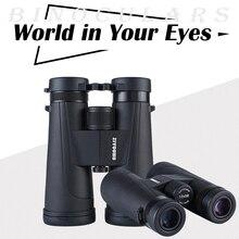 Binoculares profesionales de gran objetivo, 12x50 HD, prismáticos BAK4 prismáticos, lll, visión nocturna, senderismo, para verano