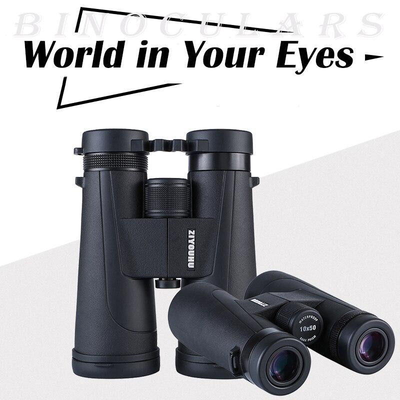 New Arrival 12x50 HD Professional Binoculars Large Objective Lens BAK4 Prism Binocular Telescope lll Night Vision Summer Hiking-in Monocular/Binoculars from Sports & Entertainment