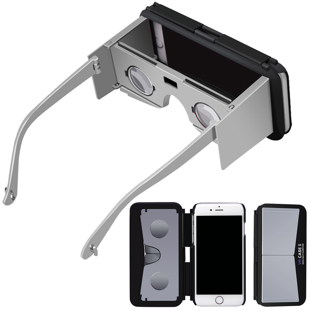Sannysis 2017 New Arrival 3D VR Mobile Phone Case Virtual Reality Google Glasses for iPhone 6S/7/8 4.7 Inch Drop shipping