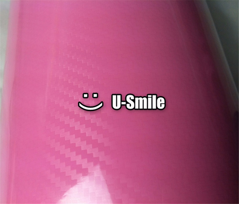 Ultra Sticker 5D Pink Carbon Fiber Sheet Car Wrap Vinyl Film Decals Air Release Car Wrapping Size:1.52X20M/Roll 40cmx200cm car styling 3d 3m carbon fiber sheet wrap film vinyl car stickers and decals motorcycle automobiles car accessories