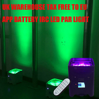 UK TAX FREE Core Mobile APP 4*18W 6in1 RGABW UV Freedoom Battery Operated Wireless LED Par Light LED Par Projector UPLIGHT