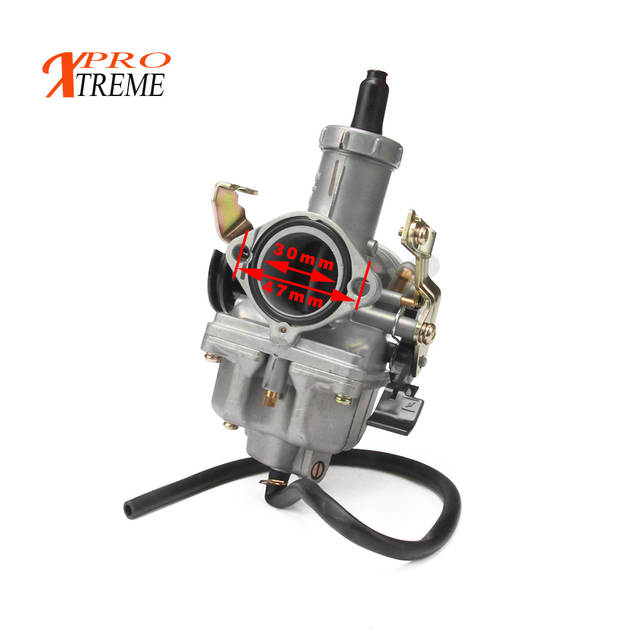 US $30 0 20% OFF|Russian overseas warehouse PZ30 IRBIS TTR250 Tuning Tuned  Power Jet For Keihin 30mm Carburetor Visiable Twister Cable grips-in