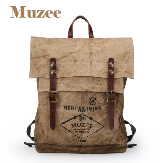 e33284d62e1a Free shipping Muzee The men canvas backpack is trendy backpack capacity bag  leisure laptop bag ME J011