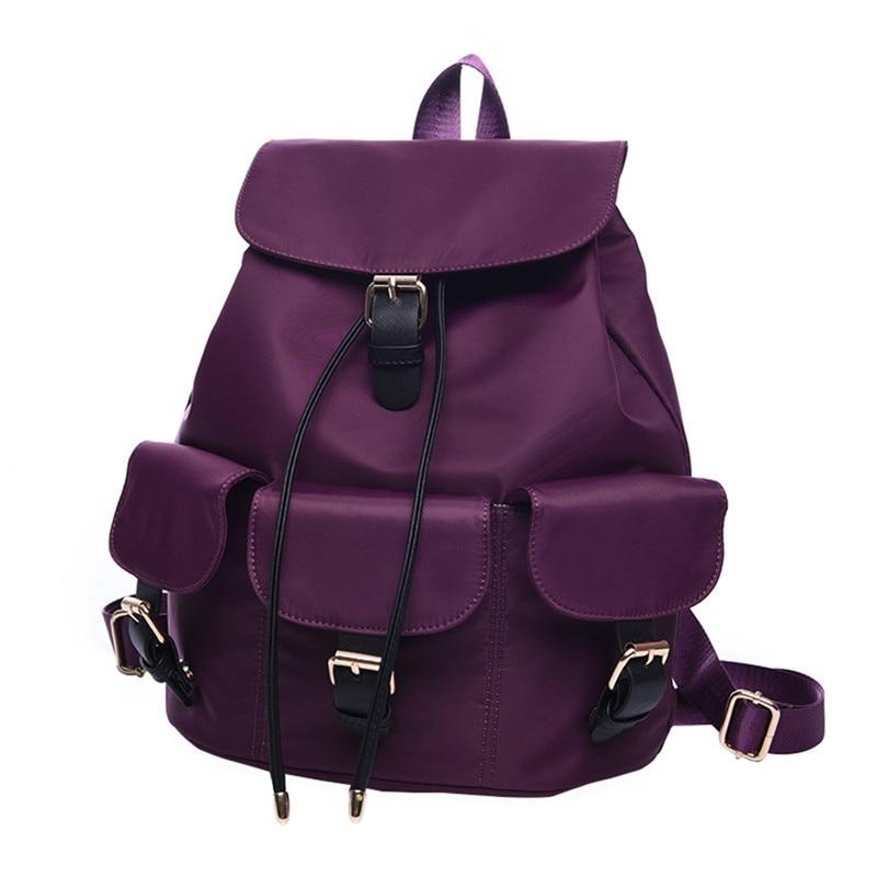 876fba419688 ₪Бренд рюкзак Для женщин Рюкзаки одноцветное Винтаж Школьные ранцы ...