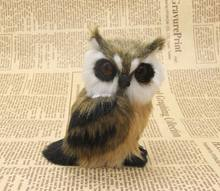 mini cute Simulation owl toy polyethylene&furs left owl model gift about 12cm y0097(China)