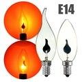 Luz Edison vindima Lâmpada E14 3 W CONDUZIU a Lâmpada de Poupança de Energia fogo Chama Vela Cauda Lâmpadas Do Candelabro Para Casa Bar Decoração Iluminação 220 V